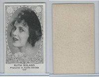 W585, Movie Stars, Blank Backed, 1921, #117 Ruth Roland