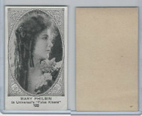 W585, Movie Stars, Blank Backed, 1921, #120 Mary Philbin