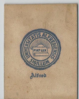 L20 American Tobacco Leather, College Seals, 1912, Alfred (White)