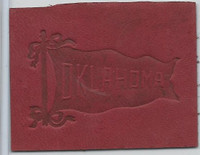 L21 American Tobacco Leather, College Pennants, 1912, Oklahoma
