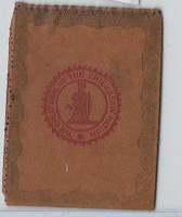 L23 American Tobacco Leather, State Seals, 1912, Chieksaw Indian Nation