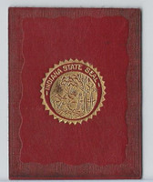L23 American Tobacco Leather, State Seals, 1912, Indiana (Red)