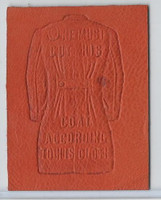 L24 ATC Leather, Mottoes & Quotes, 1912, One Must Cut His Coat