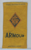 S25 American Tobacco Silk, College Seal, 1910, Armour