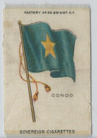 S33 American Tobacco Silk, National Flags, 1910, Congo