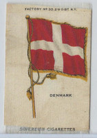 S33 American Tobacco Silk, National Flags, 1910, Denmark