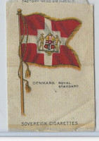 S33 American Tobacco Silk, National Flags, 1910, Denmark Royal Standard