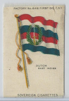 S33 American Tobacco Silk, National Flags, 1910, Dutch East Indies
