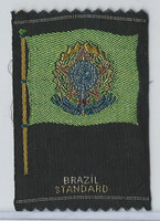 S39-1 American Tobacco Silk, Flags & Arms, 1910, Brazil Standard
