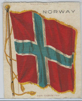 S30 American Tobacco Silk, National Flags, 1910, Norway (5 X 6.5 in)