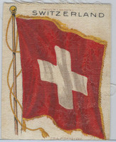 S30 American Tobacco Silk, National Flags, 1910, Switzerland (5 X 6.5 in)