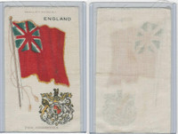 S35 American Tobacco Silk, Flags & Arms, 1910, England (3 X 5 in)