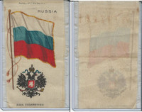 S35 American Tobacco Silk, Flags & Arms, 1910, Russia (3 X 5 in)
