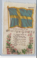 S40 American Tobacco Silk, Flag, Song, Flower, 1910, Sweden