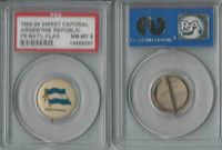 P6 American Tobacco Pins, National Flag, 1898, Argentina, PSA 8 NMMT