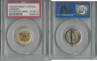 P10 American Tobacco Pins, State Arms, 1898, Arizona, PSA 6 EXMT