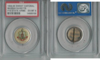 P10 American Tobacco Pins, State Arms, 1898, Massachusetts, PSA 6 EXMT