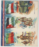 F6-4 Dixie Cup, Premium, 1944, United Nations At War, Ethiopia, Iran, Iraq