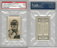 L8-98 Lambert, Who's Who In Sports, 1926, #10 Segrave, Racing, PSA 7 NM