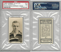 L8-98 Lambert, Who's Who In Sports, 1926, #12 WW Wakefield, Rugby, PSA 7 NM