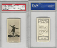 L8-98 Lambert, Who's Who In Sports, 1926, #21 P. Beckton, Skiing, PSA 5 EX