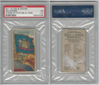 N11 Allen & Ginter, Flags of the States, 1888, Delaware, PSA 1.5