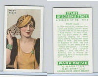 G12-100 Gallaher, Stars Of Screen & Stage, 1935, #2 Mary Ellis