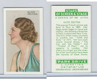 G12-100 Gallaher, Stars Of Screen & Stage, 1935, #20 Alice Delysia