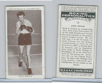 C82-34 Churchman, Boxing Personalities, 1938, #13 Jack Doyle