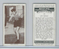 C82-34 Churchman, Boxing Personalities, 1938, #18 Len Harvey