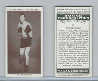 C82-34 Churchman, Boxing Personalities, 1938, #19 Frank Hough