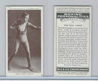 "C82-34 Churchman, Boxing Personalities, 1938, #25 Ted ""Kid"" Lewis"