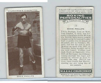 C82-34 Churchman, Boxing Personalities, 1938, #33 Eddie Phillips,