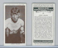 C82-34 Churchman, Boxing Personalities, 1938, #37 Jimmy Walsh