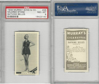 M164-42 Murray Sons, Bathing Belles, 1939, #26 Mildred Stone, PSA 8 NMMT