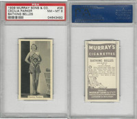 M164-42 Murray Sons, Bathing Belles, 1939, #38 Cecilia Parker, PSA 8 NMMT