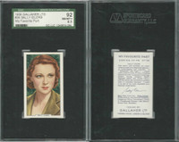 G12-90 Gallaher, My Favorite Part, 1939, #36 Sally Eliers, SGC 92 NMMT+