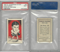 C0-0 Cummings, Famous Fighters, 1947, #27 Jake Kilrain. PSA 7 NM
