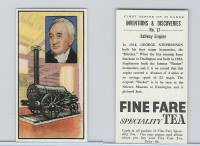 F0-0 Fine Fare Tea, Inventions & Discoveries, 1962, #17 Railway Engine