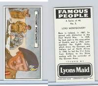 L0-0 Lyons Maid, Famous People, 1966, #3 Lord Montgomery