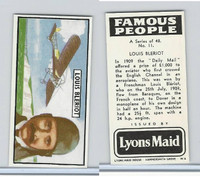L0-0 Lyons Maid, Famous People, 1966, #11 Louis Bleriot