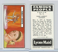 L0-0 Lyons Maid, Famous People, 1966, #12 Dame Margot Fonteyn