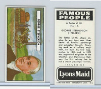 L0-0 Lyons Maid, Famous People, 1966, #14 George Stephenson