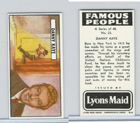 L0-0 Lyons Maid, Famous People, 1966, #23 Danny Kaye
