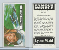 L0-0 Lyons Maid, Famous People, 1966, #32 Donald Campbell
