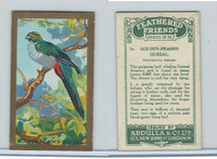 A5-14 Abdulla, Feathered Friends, 1935, #16 Golden Headed Quezal