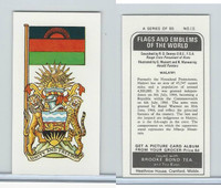 B0-0 Brooke Bond Tea, Flags & Emblems, 1973, #18 Malawi