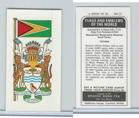 B0-0 Brooke Bond Tea, Flags & Emblems, 1973, #23 Guyana