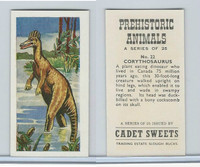C0-0 Cadet Sweets, Prehistoric Animals, 1961, #22 Corythosaurus