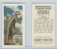 C0-0 Cadet Sweets, Prehistoric Animals, 1961, #23 Allosaurus